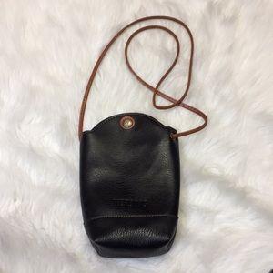 HEROING Sling Bag/Crossbody Black Leather